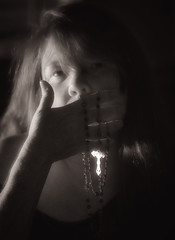 Silenced (Southern Darlin') Tags: me conceptual self selfportrait cross rosary expression emotive photography photo portrait canon