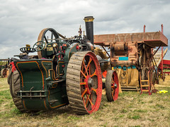 Casterton Vintage Working Weekend 2018 (Ben Matthews1992) Tags: great casterton little rutland leicestershire old vintage historic preserved preservation vehicle transport agriculture agricultural 1930 ruston hornsby traction engine 161250 fw1509 threshing thrashing box drum