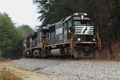 NS 53W (Steve Hardin) Tags: locomotive engine standardcab emd sd70 norfolksouthern railway railroad railfan grain coveredhopper train braswell georgia