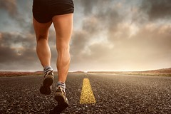 Asphalt clouds endurance - Credit to https://homegets.com/ (davidstewartgets) Tags: asphalt clouds endurance grass jogging landscape legs man outdoors person run shoes sky