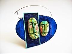 P'tit Navire - brooch by Sonya Girodon (Sonya Girodon's Creations) Tags: leatherandpolymerclay leather polymerclay sonyagirodon