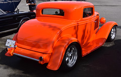 Ford 3 window coupe hot rod (D70) Tags: ford 3 window coupe orange oceanparkford hotrodshow 2018 surrey britishcolumbia canada hotrod nikon d750 28300mm f3556 ƒ90 436mm 1320 100