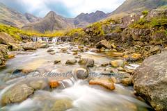 Up the River (rayduckworth) Tags: river landscape sky mountains rocks slowshutterspeed scotland fairypools isleofskye
