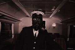 On Board The Zone Night Train (Bo Ragnarsson) Tags: thezone night nighttrain chernobyl pripyat stalker fallout cosplay uniform twisted gasmask respirator train boragnarsson radioactive radiation contaminated apocalypsedeacadence avon