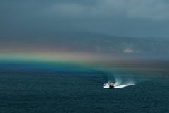 Rainboat (Cornelli2010) Tags: azoren azores boat boot colors nature portugal rainbow regenbogen sonyrx100 speed