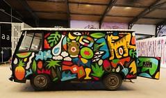 Grems - Peugeot J7 (Thethe35400) Tags: auto car cars cotxe coche automobile voiture carro bíll bil samochód carr autoa peugeot van camionnette artderue arteurbano arturbain arturbà arteurbana calle grafit grafite grafiti graffiti graffitis graff mural murales muralisme plantilla pochoir stencil streetart schablone stampino tag urbanart wall