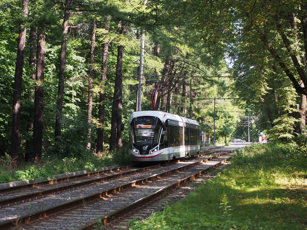 фото: Трамвай в парке Измайлово