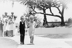 Wedding Procession (Sharna Wilkinson) Tags: blackandwhite wedding pageboy flowergirl canon