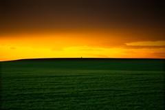 Sunset (una cierta mirada) Tags: sunset landscape sky sun green agriculture yellow orange black nature sunrise