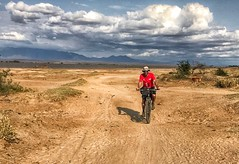 Riding away from Nyumba Ya Mungu