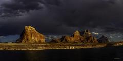 Lake Powell Evening Storm (McKendrickPhotography.com) Tags: lakepowell page arizonia utah glencanyonrecreationarea lake water clouds storms sunshine