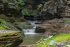 Watkins Glen - Explored 09082018 (EHPett) Tags: waterfall watkinsglen newyork cascade forest rocks stream scenic