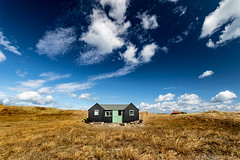 The Cabin With The Most Friendly Two Labs on the Point. (andybam1955) Tags: landscape blakeneypoint coastal sky northnorfolk rural blakeney norfolk sea