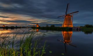 Floodlights in Kinderdijk 2018 -3-