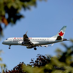 The leaves are starting to show their colours! (yul_spotter) Tags: aircanada montreal aviationphotography aviation airplane aircraft e175 yul quebec canada