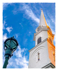6:50 PM (Timothy Valentine) Tags: 2018 fbpost 0818 church lamp vacation spire hrsw camden maine unitedstates us