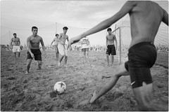 Eat, Sleep, Play Soccer (Steve Lundqvist) Tags: soccer kid guy boy ball football action beach sea calcio young people compo composition composizione time kick timing azione