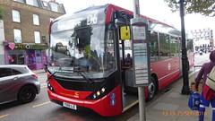 P1130274 1287 YX68 UJE at Mile End Station Grove Road Mile End London (LJ61 GXN (was LK60 HPJ)) Tags: ctplus hackneycommunitytransportgroup enviro200 enviro200d e200d enviro200mmc enviro200dmmc mmc majormodelchange 109m 10870mm 1287 yx68uje h2975