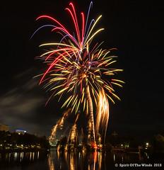 "The Walking Man (jimgspokane) Tags: fireworks pyrotechnics spokanewashingtonstate spokaneriver ""nikonflickraward"" today´sbest"