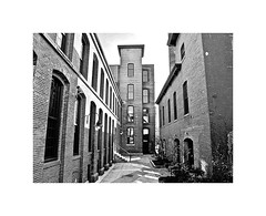 The River Lofts at Ashton Mill in Cumberland, R.I. (BlueisCoool) Tags: flickr foto photo image capture picture photography canon bw architecture building factory mill brick dark old outdoors interesting ri canonpowershotg11 blackandwhite brickbuilding millbuilding newenglandmill newenglandfactory smokestack ashtonmill theriverloftsatashtonmill blackstonecanal blackstoneriver blackstonevalley blackstoneriverbikeway theoceanstate 51frontst cumberlandri rhodeisland newengland