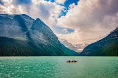 Paddling on Lake Louise (Sean X. Liu) Tags: lakelouise lake mountains rockymountains banffnationalpark banff alberta canada landscape