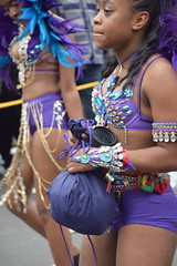 DSC_8385 Notting Hill Caribbean Carnival London Exotic Colourful Blue and Purple Costume with Ostrich Feather Headdress Girls Dancing Showgirl Performers Aug 27 2018 Stunning Ladies (photographer695) Tags: notting hill caribbean carnival london exotic colourful costume girls dancing showgirl performers aug 27 2018 stunning ladies blue purple with ostrich feather headdress