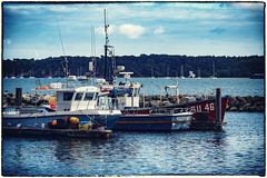 a boat called su (Mark Rigler -) Tags: boat fishing sky sea water harbour