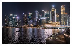 All of the Lights (martyndt) Tags: dusk sea water reflections highrise buildings lights night bay singapore