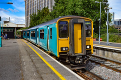 150281 - Cardiff Queen Street - 09/08/18. (TRphotography04) Tags: arriva trains wales 150281 departs cardiff queen street with 2y61 1452 aberdare barry island