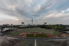 olympischer überblick (dadiolli) Tags: münchen bayern deutschland de olympiapark olympiaturm olympiastadion munich germany freiotto zeltdach
