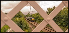 No wires here!  27thAugust. (peterdouglas1) Tags: directrailservices class88 llanfairpg footbridges pylons anglesey northwalescoastrailway valleyflasks 6d43