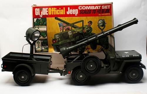 GI Joe jeep combat set with box ($89.60)