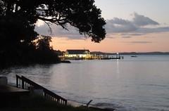 Paihia Harbour Sunset - North Island, NZ (zorro1945) Tags: paihia bayofislands northisland nz newzealand dusk nightfall sunset gloaming sundown eveninglight reflection harbour jetty quay