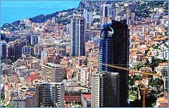 Monaco depuis la moyenne corniche (claude lina) Tags: claudelina france alpesmaritimes provencealpescôtedazur monaco paysage landscape architecture buildings immeubles