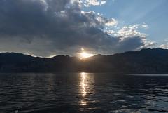 (CarolienCadoni..) Tags: sony sal2470z sonyilcaa99m2 mountains lake lakegarda lagodigarda italy water reflections clouds sun sundown sunset