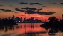 Toronto Skyline Sunrise (Bill McDonald 2016) Tags: sunrise toronto morning september fall autumn bright fiery billmcdonald wwwtekfxca lake lakeontario ontario canada ngc