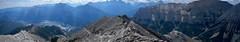 Gap Peak Summit Scramble  - Summit Pano (benlarhome) Tags: alberta canada exshaw gappeak hike hiker krummholz trek trekking scramble scrambling trail path rockies rockymountain mountain