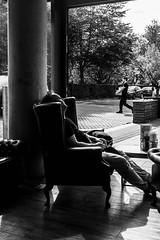 Work and Play (gwpics) Tags: man england british sitting people relaxation mono leisure southampton streetphotography uk english editorial everydaylife hampshire hants lifestyle male men monochrome person socialcomment socialdocumentary society streetscene streetphotos streetpics unitedkingdom bw blackwhite blackandwhite street streetlife