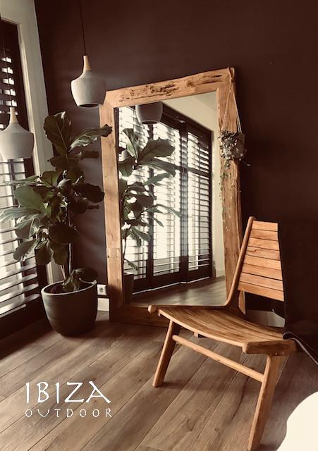 mooie foto van spiegel en houten ushuaia loungestoel ibiza outdoor tags spiegel woonkamer