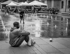 Contemplation (Dalliance with Light (Andy Farmer)) Tags: street philadelphia cityhall bw fountain dilworthpark philly pennsylvania unitedstates us