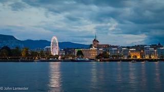 Evening Geneva skyline