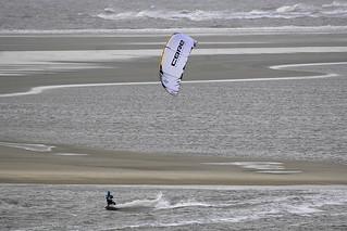 Stormy Kitesurfing at Borkum beach