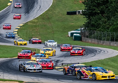 Running with the Pack (4 Pete Seek) Tags: roadatlanta roadracing ferrari ferrarichallenge motorsports motorracing autoracing racing