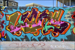 Vans (Alex Ellison) Tags: southlondon brixton skatepark halloffame urban graffiti graff boobs