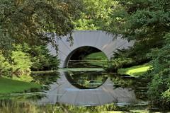 Sun Bridge (Jan Nagalski) Tags: bridge sunbridge reflection water michiganmodern dowgardens landscape green lawn aldendow herbertdow dowchemical midland michigan summer jannagalski jannagal