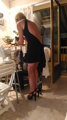 I apologise for poor quality of that set, taken at le Cap d'Agde, with my phone. Pardon pour la piètre qualité de ce lot de photos, prisent au Cap d'Agde, avec mon téléphone (magda-liebe) Tags: travesti crossdresser french outgoing minidress highheels