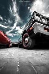 Black Road Runner (Dejan Marinkovic Photography) Tags: 1969 plymouth roadrunner mopar muscle car sky clouds detail redline steelies