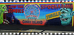 Stop The Zombies (Robert S. Photography) Tags: rides spookarama sign wall art horror scaryride coneyisland newyork sony dscwx150 color iso100 august 2018
