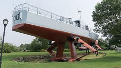 Hydroptère Bras d'Or 400, L'Islet sur Mer, P.Q., Canada - 7824 (rivai56) Tags: muséemaritimeduquébeclisletsurmer pq canada musée museum boat bateau hydroptère bras d'or 400 hydrofoil dor le ncsm fhe était un expérimental de la marine royale canadienne conçu dans les années 1960 pour détection sousmarins soviétiques pouvant sapprocher des rives du