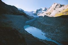 Glacier Streams (Bokehm0n) Tags: landscape nature vsco explore flickr earth travel folk 500px peak mountain glacier mountaineering alpine alps lake mountainside valley moraine trek avalanche switzerland valais wallis